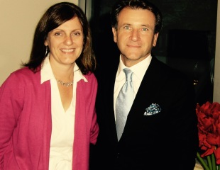 Dragon Den's Robert Herjavec and Margaret before his Chapters Robson event.