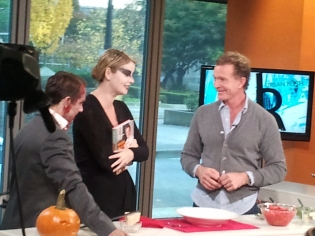 Chef Mark McEwan chats with a scary Fiona Forbes and Michael Eckford. (Okay, it was October 31!)
