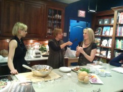 Quinoa Revolution sisters chat with CBC's Sheryl MacKay on location at Barbara Jo's Books to Cooks.