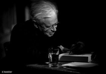 Bruce Cockburn signing books. Thanks for the pic, Daniel Keebler.