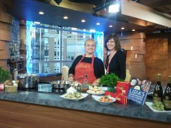 In the wee hours of the morning, Lidia Bastianich and Margaret prep for CTV Morning News.
