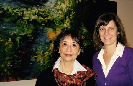 Madhur Jaffery and Margaret in the green room at The Fanny Kiefer Show.