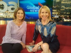 Barbara Williams with Global's Samantha Falk.