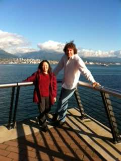The tale of two heights. I snapped this picture of Vancouver Sun's Juanita Ng and Chef Michael Smith after their interview at the glorious Vancouver convention centre.
